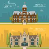 University buildings background