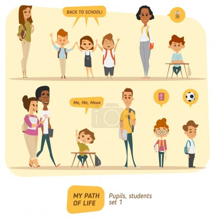 Illustration for Students and pupils collection - Royalty Free Image