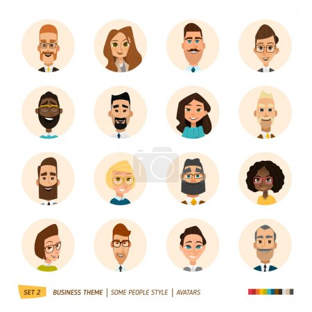 Business avatars set. Vector Illustration