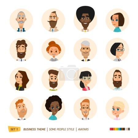 Illustration for Business avatars set. Vector Illustration - Royalty Free Image