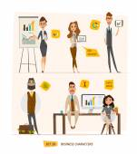 Business characters set Vector Illustration