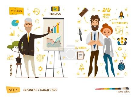 Illustration pour Scène de personnages d'affaires. Illustration vectorielle - image libre de droit