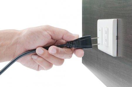 Hand unplug or plugged