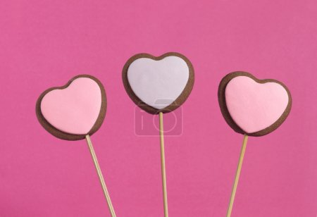 Photo for Heart shaped cookies for valentines day - Royalty Free Image