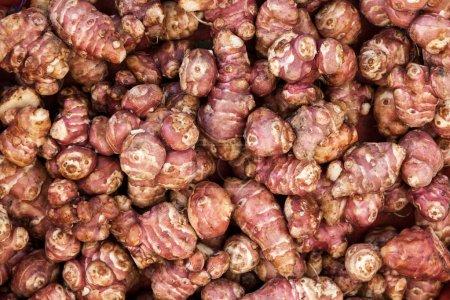 Pile of fresh Jerusalem Artichokes