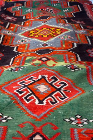 Colorful turkish rug