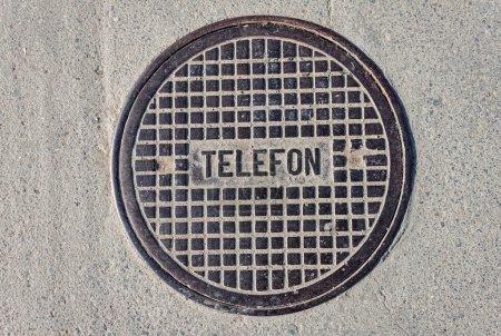 Telephone manhole cover
