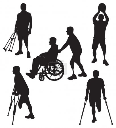 Amputee Silhouettes 11