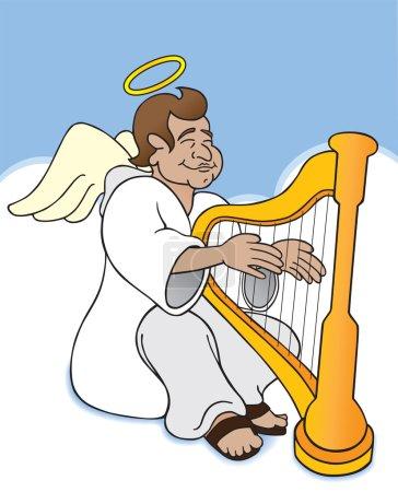 Angel joue de la harpe