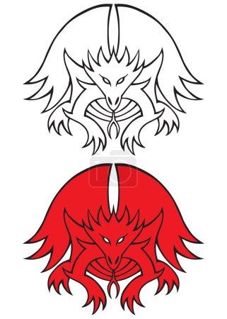Stylized Dragon Tattoo