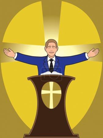 Preacher at service