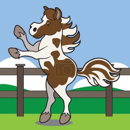 Rearing Cartoon Horse