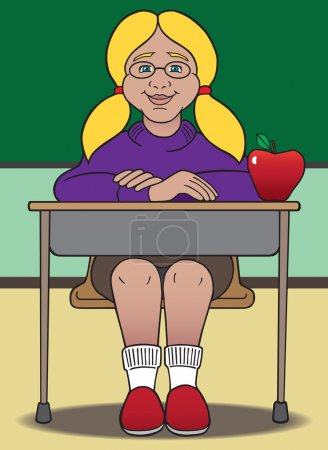 Female teacher's pet