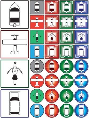 Multiple transportation symbols