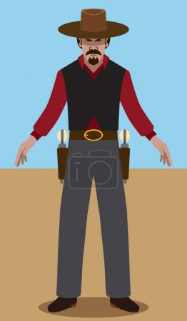 Old west gunslinger ready to draw...
