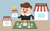 Businessman want to expand his business franchise concept