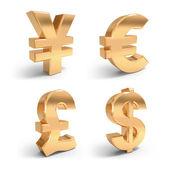 Golden Währungssymbole