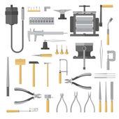Set of jewelry tools