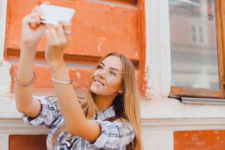 woman taking picture of herself