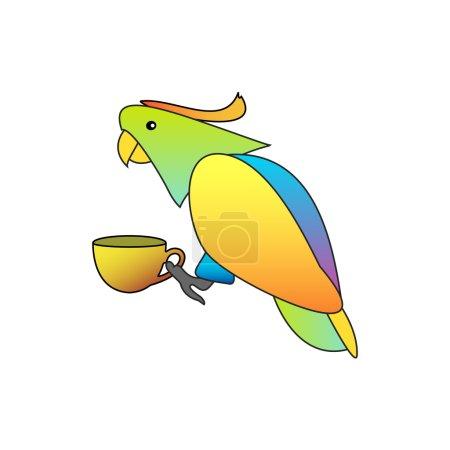 Illuminated Parrot Animal Bird