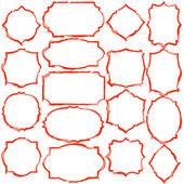 Simple dark red grunge thick frames