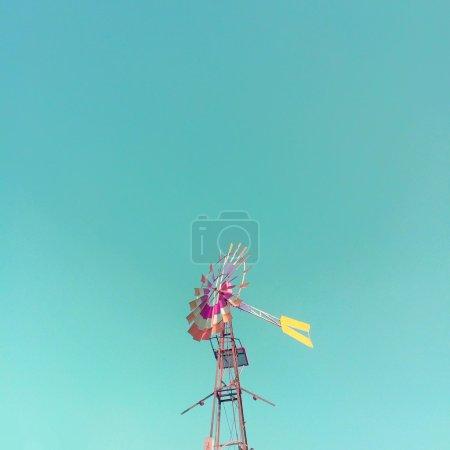Colourful wind vane