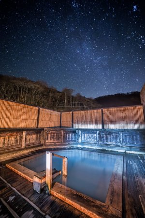 Outdoors pool in japanese baths