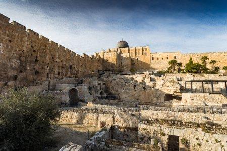 Photo pour Belle architecture ancienne de la vieille ville de Jérusalem, Israël - image libre de droit