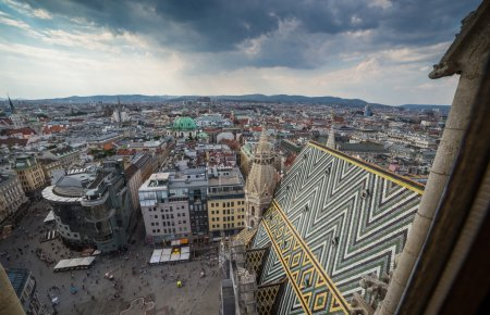 View from St. Stephen's Cathedral, Austria.