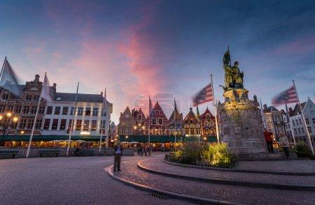 Bruges old town in Belgium