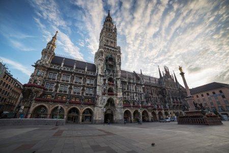 Town Hall (Rathaus) at Marienplatz, Munich, German...