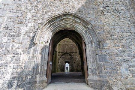 Man walking in Irish Castle