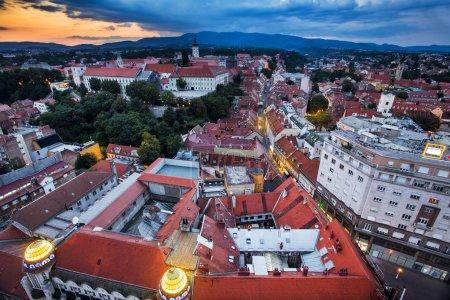 Zagreb Panorama by night