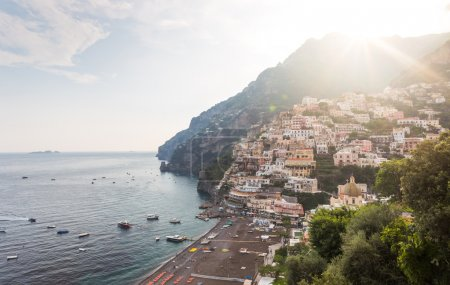 Positano village in Italy