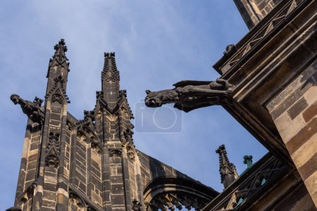 Statues on cathedral in Prague
