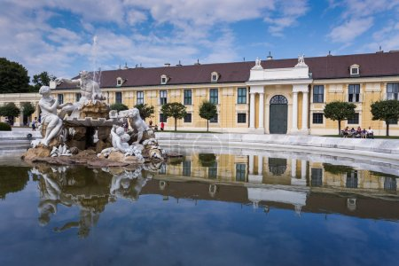 Schonbrunn Palace with fountain, Vienna