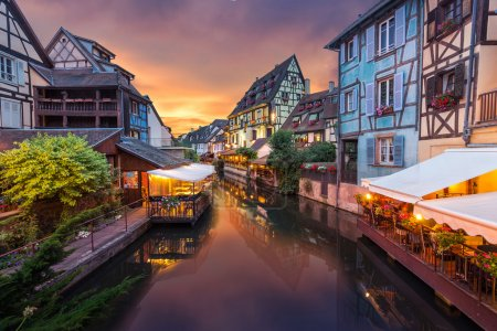 Photo for Colmar town evening view in France - Royalty Free Image