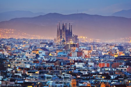 Barcelona city in Spain