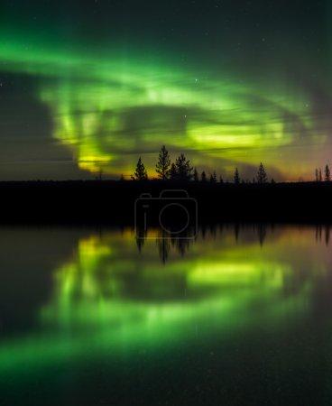 Beautiful aurora dancing
