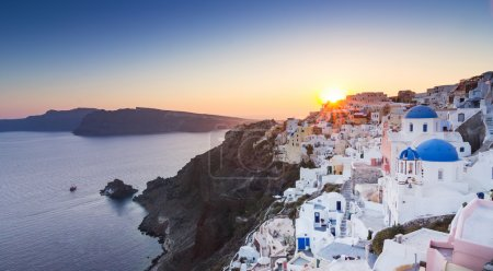 Beautiful city Santorini Greece
