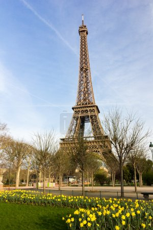 Famous Eiffel tower in Paris