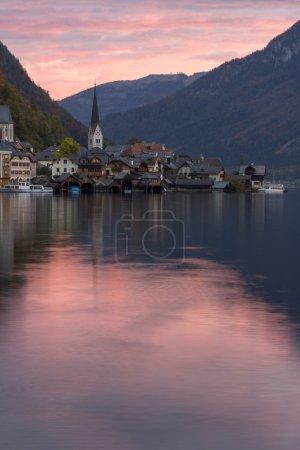 Hallstatt village in Alps