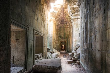 Picturesque ancient Ta Prohm temple
