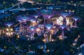 Nádherné panorama města Singapur