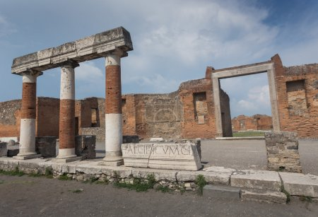 The famous antique site of Pompeii