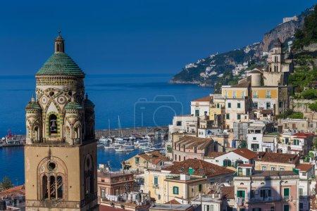 Aerial view of Amalfi bay