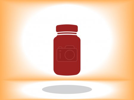 Plastic bottle icon vector illustration...