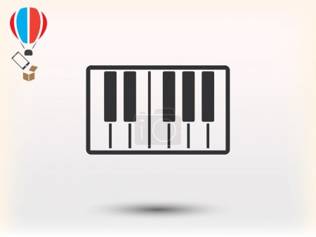 piano  icon  illustration