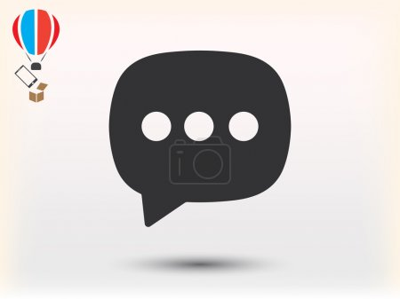 Illustration for Chat icon vector illustration - Royalty Free Image