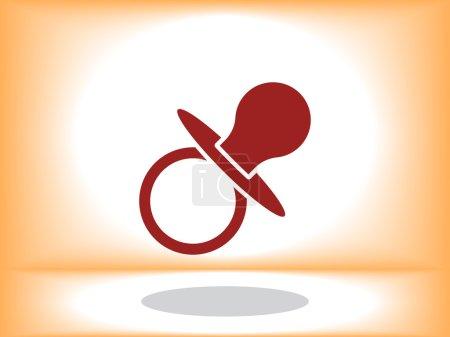 nipple icon illustration